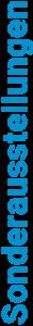 Logo der Sonderausstellungen im Museum Prora Zentrum bei Binz auf Rügen