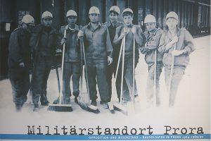Bild der Bausoldaten am Militärstandort Prora im Museum auf Rügen