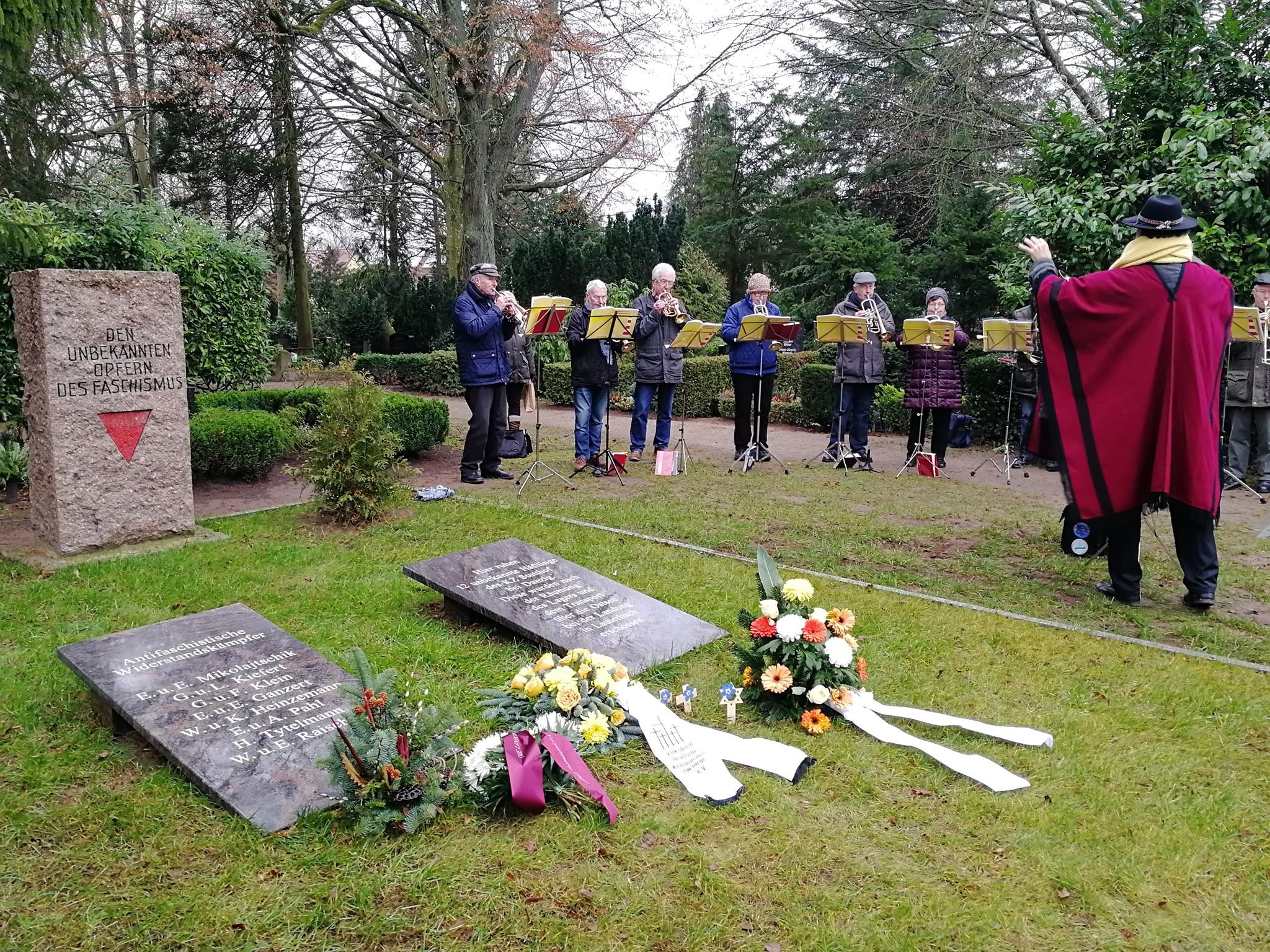 Gedenken an die Opfer des Nationalsozialismus in Bergen